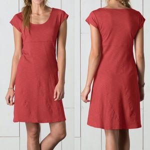 Toad & Co Nena dress Red Clay Organic Cotton blend